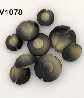 Bottone grigio anni 70